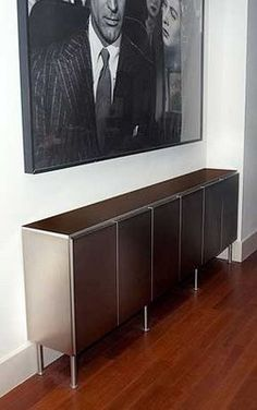 I really like the IKEA hack idea of using cabinets for side tables and credenzas and entertainment shelves.