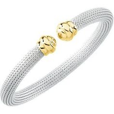 Genuine IceCarats Designer Jewelry Gift Sterling Silver & 14K Yellow Gold Cuff Bracelet. Ss/14Ky Cuff Bracelet In Sterling Silver & 14K Yellow Gold IceCarats. $258.00. Genuine IceCarats Designer Jewelry Gift. 30 day money back guarantee. Weight 24.12 grams. SS/14KY. Sterling Silver & 14K Yellow Gold. Save 75%!
