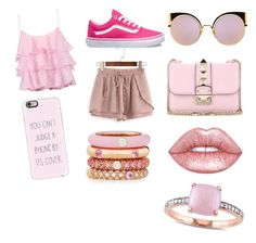 """""""Night out with the friends"""" by taco-lambert on Polyvore featuring Pierre Balmain, WithChic, Vans, Valentino, Fendi, Lime Crime, Adolfo Courrier, Casetify and Miadora"""