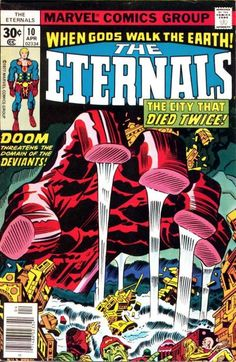 Cover for The Eternals (1976 series) #10