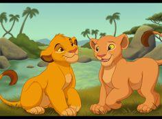Young Simba and Nala Simba Et Nala, Nala Lion King, Lion King Simba's Pride, Lion King Fan Art, Cartoon Wallpaper Iphone, Cute Disney Wallpaper, Cute Cartoon Wallpapers, Lion King Series, Disney Characters