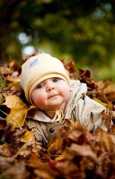 Fall baby picture