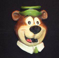 Vintage Yogi Bear String Holder (Hanna-Barbera Productions) #HannaBarberaProductions
