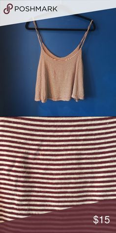Brandy Melville red and white stripe tank top Brandy Melville red and white soft cotton flowy tank top Brandy Melville Tops Tank Tops