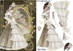 Steampunk Fashion Reflections Decoupage