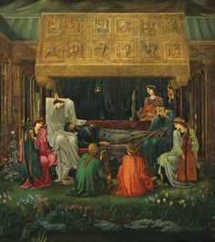 Sir Edward Coley Burne-Jones; The Sleep of King Arthur in Avalon; 1881-98; Museo de Arte De Ponce
