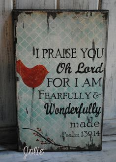 I praise you Oh Lord distressed wooden sign by JolieCustomWoodArt, $48.00
