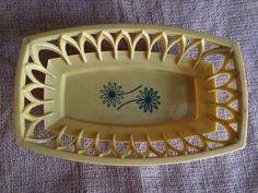 Vintage 70s Plastic Serving Bread Basket by TrailerTiques on Etsy