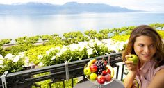 Deluxe Room Balcony - The Deluxe Rooms offer a magnificent view of Lake Geneva and the Alps. The majority of these rooms are equipped with either a balcony or a terrace. Destinations, Spa, Lake Geneva, Balcony, Terrace, Rooms, Vegetables, Quartos, Sidewalk Cafe