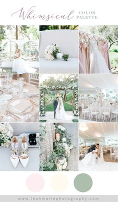 Whimsical blush wedding color palette | Leah Marie Photography