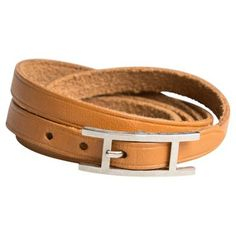 Check out this item at One Kings Lane! Hermès Gold Wrap Around Bracelet