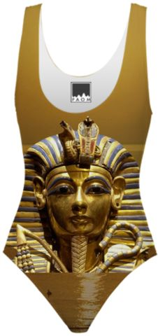 Egypt King Tut Golden One Piece Swimsuit designed by Erika Kaisersot | Print All Over Me