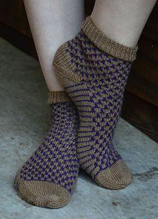 Purple Cork Socks by Heidi Gali - free