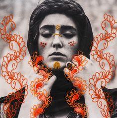 Collage Art Mixed Media, Paper Embroidery, Identity Art, Portrait Art, Portraits, Textile Artists, Fabric Art, Fiber Art, Couture