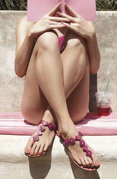Girls love sexy thong sandals
