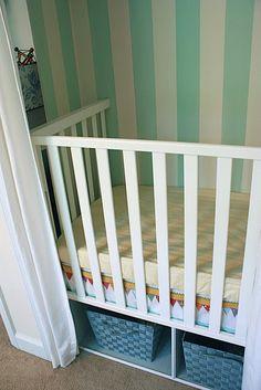 homemade closet crib
