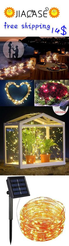 #Solar #Powered #String #Lights 100 LED #Copper #Wire #Lights Starry #String Lights Indoor/Outdoor #Waterproof Solar #Decoration #Lights for Gardens Home Dancing Party Decorative Ornaments