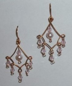Chandelier earrings are gorgeous! These instructions are for completely hand-made earrings. Use a jig or roundnose pliers to make the chandelier frame. The dangles are attached to the frame use wire or headpins. Finally, the chandelier is hung from...