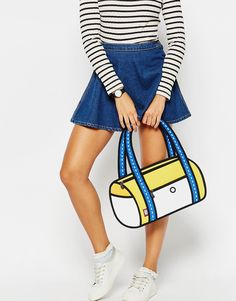 Image 1 of JumpFromPaper Shoulder Bag in Yellow Color Block