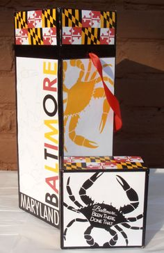 Baltimore Maryland Crab Wine Box