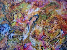 """The Music of Love Mahmoud Farshchian ""Song of Harmony Photo, World Art, Illustration, Miniatures, Art Forms, Painting, Art, Miniature Painting, Beautiful Art"