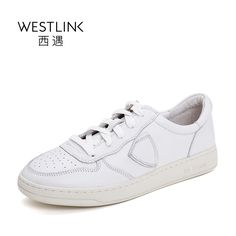 61.00$  Buy here - http://aliv3u.shopchina.info/go.php?t=32810179075 - Westlink Top Layer Cow Leather Round Toe Lace-up Flat Casual Women White Vulcanize Shoes Pink 2017 Summer New 61.00$ #shopstyle