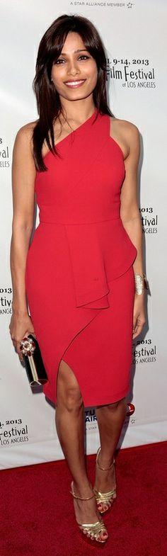 Dress – Rachel Roy  Shoes – Charlotte Olympia  Purse – Thale Blanc  Bracelet – Joan Hornig