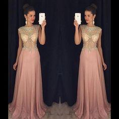 dusty pink prom dress,beading Prom Dress,long prom dress,charming prom dress,evening dress 2017,PD00297
