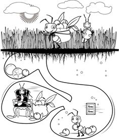Preschool 123 coloring pages ants printable bugs insects for Ant coloring pages for kids