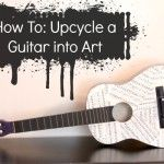 Looking for some unique musical decor? Give an old guitar a makeover and turn it into a piece of art!