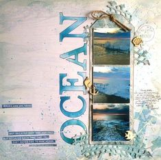 #papercrafting #scrapbooking #layouts - by Leonie Neal-Dawson