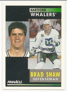 Brad Shaw 1991-92 Pinnacle Hartford Whalers Card 88 *** You can get more details by clicking on the image.