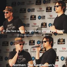 Funny pictures about If you two were a team. Oh, and cool pics about If you two were a team. Also, If you two were a team. Walking Dead Funny, Fear The Walking Dead, Walking Dead Zombies, The Walk Dead, Michael Rooker, Daryl Dixon, My Guy, The Funny, A Team