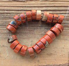 Для украшений ручной работы. Ярмарка Мастеров - ручная работа. Купить РЕЗЕРВ - Яшма 10 мм - 10 шт шайба рондель бусины камни для украшений. Handmade.