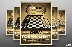 Chess Tournament Flyer Template by Thats Design Store on @creativemarket