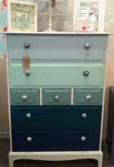 Drawers painted with Earthborn Claypaint by Furniture Magpie http://www.furnituremagpie.com/