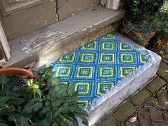 summer geometric coir mat from Thos. Baker