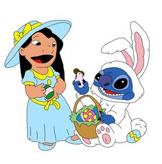 Lilo & Stitch Dressed Up For Easter Lilo And Stitch Easter Lilo And Stitch 2002, Lilo Y Stitch, Disney Stitch, Disney Pins, Disney Art, Walt Disney, Disney Stuff, Disney Easter Eggs, Easter Wallpaper