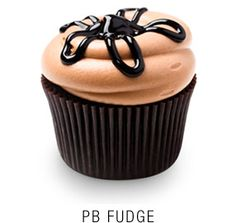 Valrhona chocolate cupcake with a fudge core topped with a peanut butter frosting and   fudge star drizzle  Georgetown Cupcake | DC Cupcakes | Menu