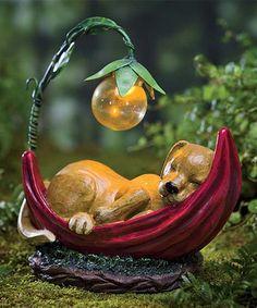 Solar-Lighted Daydreaming Puppy Figurine #zulily #zulilyfinds