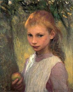The Shy Child -- by George Clausen (1852--1944, English)