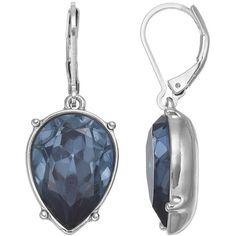 Simply Vera Vera Wang Inverted Nickel Free Blue Teardrop Earrings (¥1,250) ❤ liked on Polyvore featuring jewelry, earrings, blue, nickel free earrings, simply vera, blue color earrings, nickel free jewelry and tear drop earrings