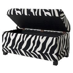 Storage and Zebra print. Love I love zebra print. i am nine years old. I have everything in my room zebra even a trashcan.