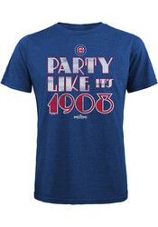 Chicago Cubs Mens Blue Party Like It's 1908 Fashion Tee