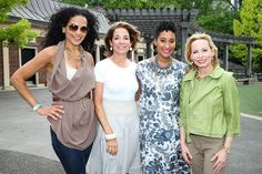 The lovely Crystal McCrary (at left) with Kimberly Chandler, wife of Knicks' Tyson Chandler, and friends.