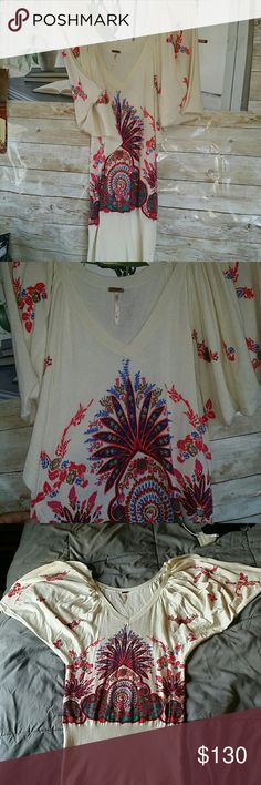 FREE PEOPLE  Sheath dress. Like New. Never worn Gorgeous and so cute on. You'll love it. Never worn, hand wash only, size medium. Free People Dresses Midi