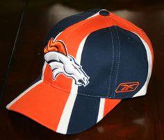 New Denver Broncos Football NFL Equipment Reebok Cap Hat-Adult 1 Size-Sewn  5a63a0a35