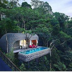 The Bird's Nest Pool Villa, at Keemala Resort - A wonderland of uniquely designed villas, each with a private pool, set in the rainforest of Kamala on Phuket Island, Thailand. Keemala Phuket, Treehouse Hotel, Phuket Resorts, Villa Phuket, Phuket Thailand, Thailand Honeymoon, Hotel Thailand, Thailand Travel, Phuket Travel