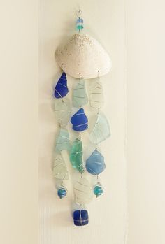 Sea Glass Mobile Suncatcher in Shades of the Sea by oceansbounty, $22.00