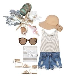 """""""Perfect summer outfit for today's 37 degrees day!"""" by danielleattard on Polyvore featuring Enza Costa, Atmos&Here, Illesteva, Splendid and Serena & Lily"""